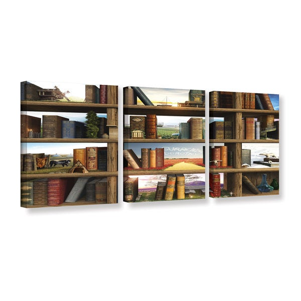 ArtWall Cynthia Decker's 'story world' 3-piece Gallery Wrapped Canvas Set