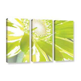 ArtWall Herb Dickinson's 'Gerber Time IV' 3-piece Gallery Wrapped Canvas Set