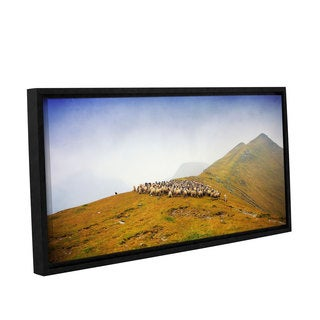 ArtWall Dragos Dumitrascu's 'Far in the Distance' Gallery Wrapped Floater-framed Canvas