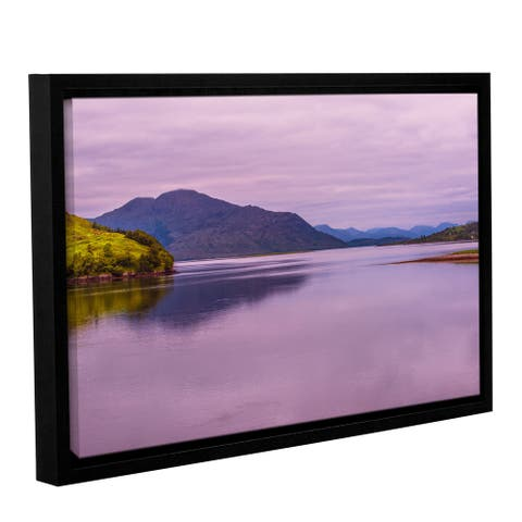 ArtWall Steve Ainsworth's 'Meeting of The Waters' Gallery Wrapped Floater-framed Canvas