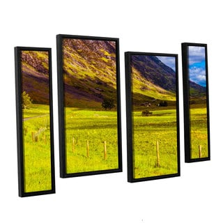 ArtWall Steve Ainsworth's 'Highland Way I' 4-piece Floater Framed Canvas Staggered Set