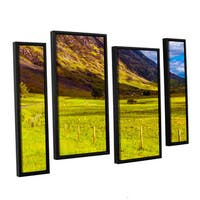 ArtWall Steve Ainsworth's 'Highland Way I' 4-piece Floater Framed Canvas Staggered Set - Multi