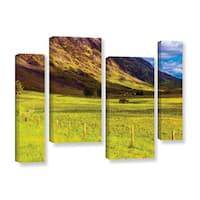 ArtWall Steve Ainsworth's 'Highland Way I' 4-piece Gallery Wrapped Canvas Staggered Set