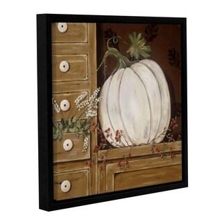 ArtWall Jo Moulton's White Pumpkin, Gallery Wrapped Floater-framed Canvas