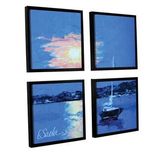 ArtWall Leslie Saeta's 'Summer Reflections' 4-piece Floater Framed Canvas Sqare Set