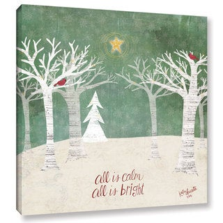 ArtWall Katie Doucette's 'Christmas Trees' Gallery Wrapped Canvas