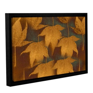 ArtWall Don Schwartz's 'Collection Of Leaves' Gallery Wrapped Floater-framed Canvas