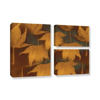 ArtWall Don Schwartz's 'Collection Of Leaves' 3-piece Gallery Wrapped Canvas Flag Set