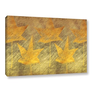 ArtWall Don Schwartz's 'Five Golden Leaves' Gallery Wrapped Canvas