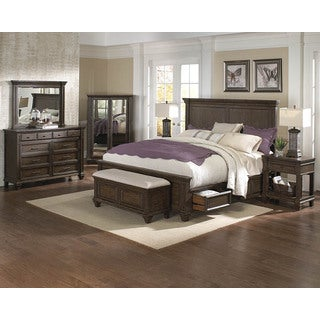 Simply Solid Logan Solid Wood 4-piece Queen Bedroom Collection