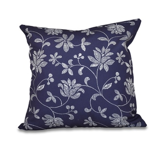 Traditional Floral Print 20-inch Throw Pillow