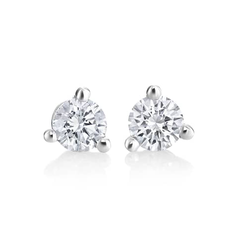 SummerRose 14k White Gold 1/4ct TDW Diamond Martini Stud Earrings - White H-I