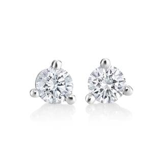 Andrew Charles14k White Gold 1/4ct TDW Diamond Martini Stud Earrings (H-I, SI1-SI2)