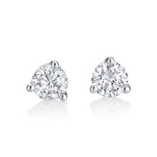 Andrew Charles 14k White Gold 1/2ct TDW Diamond Martini Stud Earrings (H-I, SI1-SI2)