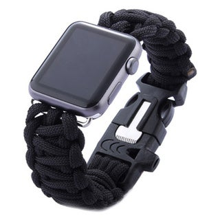 iPM Weave Replacement Watch Band with Whistle for Apple Watch