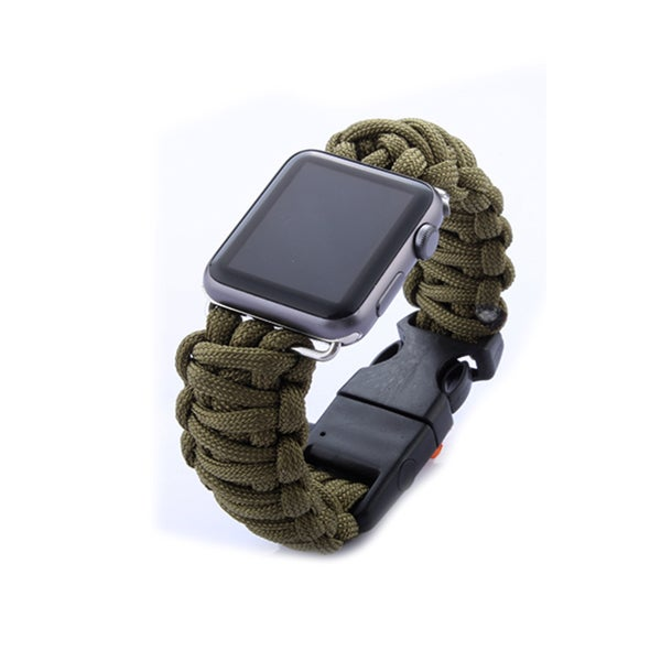 iPM Weave Replacement Watch Band with Whistle and Flint for Apple Watch