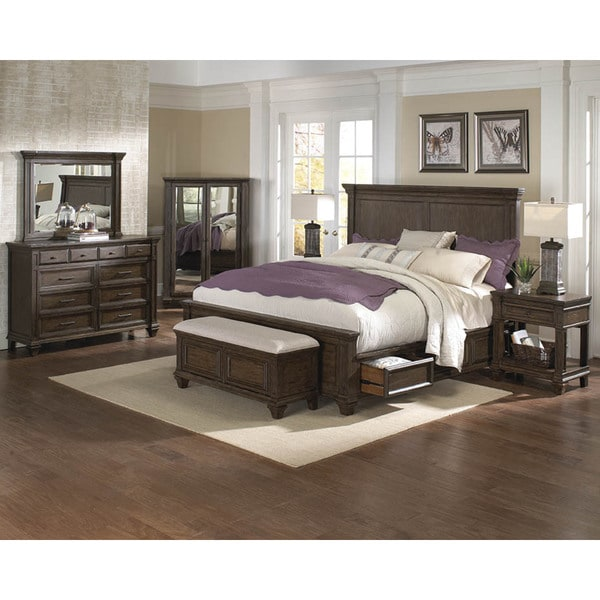 shop simply solid logan solid wood 5 piece queen bedroom collection free shipping today. Black Bedroom Furniture Sets. Home Design Ideas