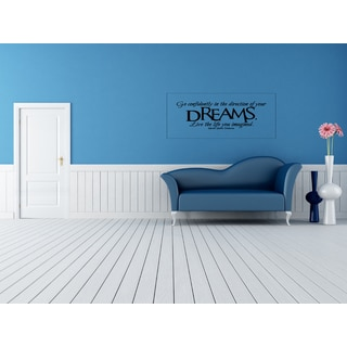 Go Confidently in the Direction of Dreams quote Wall Art Sticker Decal