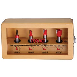 Freud 89-650 4-piece Undersized Plywood Bit Set