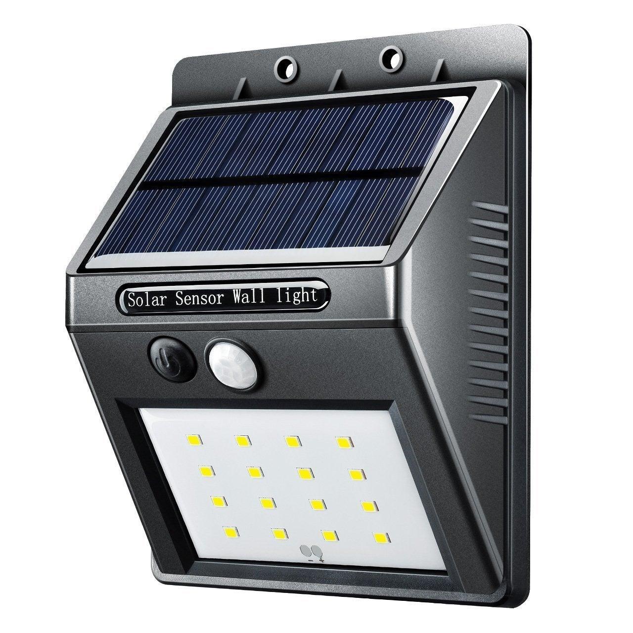 16 Led Solar Panel Ed Motion Sensor Lamp Outdoor Light Garden Security 320lm