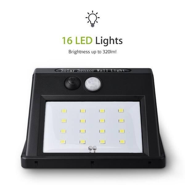 16 Led Solar Panel Ed Motion Sensor Lamp Outdoor