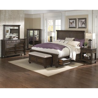 Simply Solid Logan Solid Wood King Storage Bed