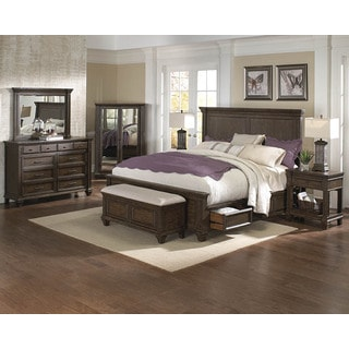 Simply Solid Logan Solid Wood Queen Storage Bed