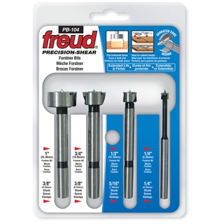 Freud PB-104 4 Piece Precision Shear Forstner Bit Set