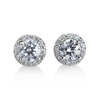 Andrew Charles 14k White Gold 1ct TDW Diamond Halo Earring (H-I, SI1-SI2)