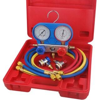 Speedway R134A Refrigerant A/C Manifold Gauge Set - Red