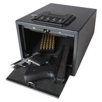 Magnum Quick-access Black Steel Alarming Pistol Safe