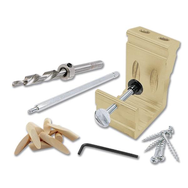 Shop General 850 Pocket Hole Doweling Jig Kit Free