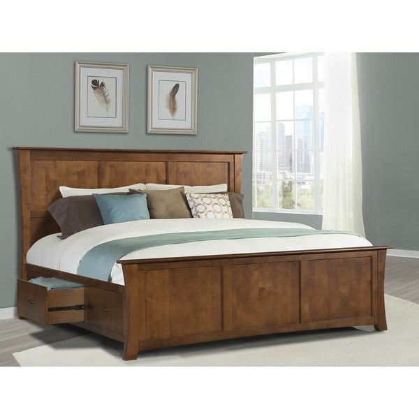 shop simply solid avett solid wood 5 piece queen bedroom collection on sale free shipping. Black Bedroom Furniture Sets. Home Design Ideas