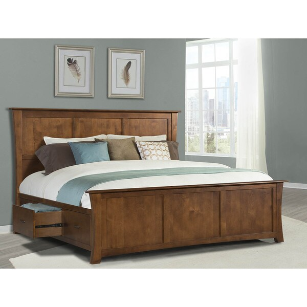 shop simply solid avett solid wood 4 piece queen bedroom collection on sale free shipping. Black Bedroom Furniture Sets. Home Design Ideas
