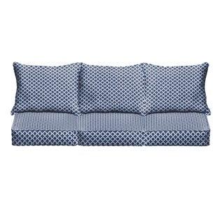 Navy Chainlink Indoor/ Outdoor Corded Sofa Cushion Set