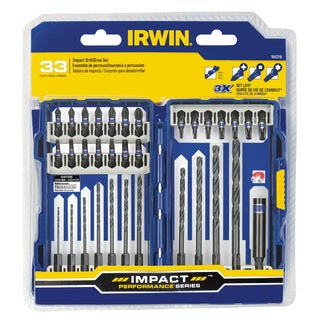 Irwin 1840318 Steel Impact Series Drill and Drive Set 33-count