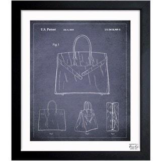Oliver Gal 'Birkin Handbag 2009' Framed Blueprint Art