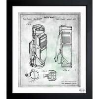 Oliver Gal 'Golf Bag 1995' Framed Blueprint Art
