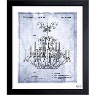 Oliver Gal 'Chandelier 1996' Framed Blueprint Art