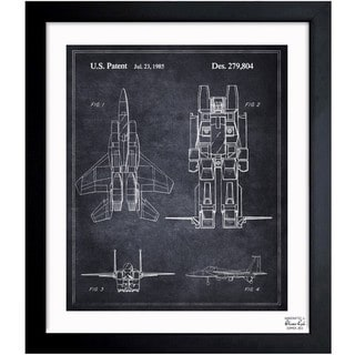 Oliver Gal 'Reconfigurable Starscream 1985' Framed Blueprint Art