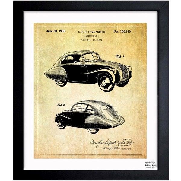 Oliver Gal \'Design for an Automobile 1936\' Framed Blueprint Art ...