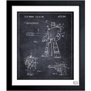 Oliver Gal 'Megatron 1986' Framed Blueprint Art