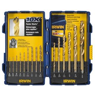 Irwin 3018009 Titanium Nitride TurboMax Pro Drill Bit 15-piece Set