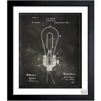 Oliver Gal 'Edison Lamp 1882' Framed Blueprint Art
