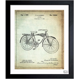 Oliver Gal 'Schwinn Bicycle 1939' Framed Blueprint Art