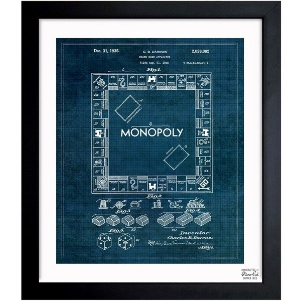 Oliver gal monopoly 1935 framed blueprint art free shipping oliver gal x27monopoly 1935x27 framed blueprint art malvernweather Image collections