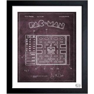 Oliver Gal 'Maze Based Game Screen 2003' Framed Blueprint Art