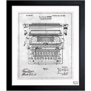 Oliver Gal 'Type Writing Machine 1899' Framed Blueprint Art