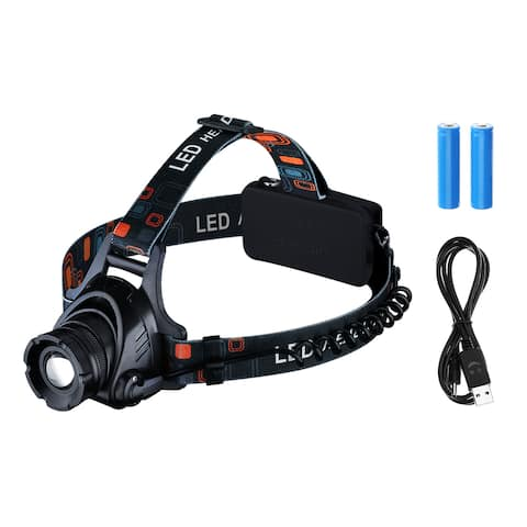 Waterproof Headlamp with Red Light and LED Flashlight