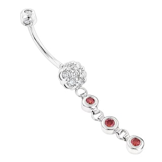 Luxurman 14k Gold 5/8ct TDW Diamond Flower Body Jewelry Belly Button Ring (H-I, SI1-SI2)